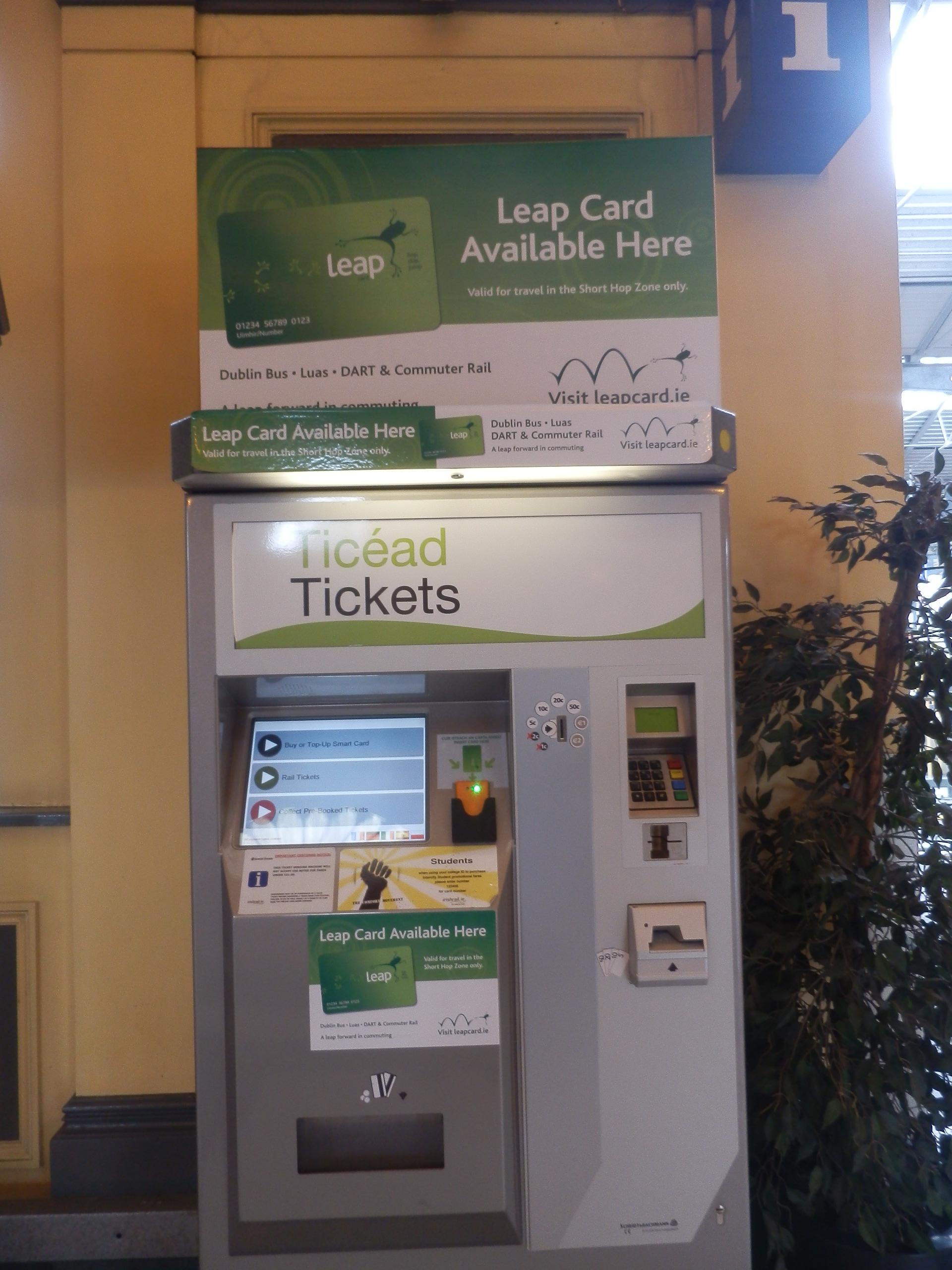 Biglietteria automatica a Heuston Station