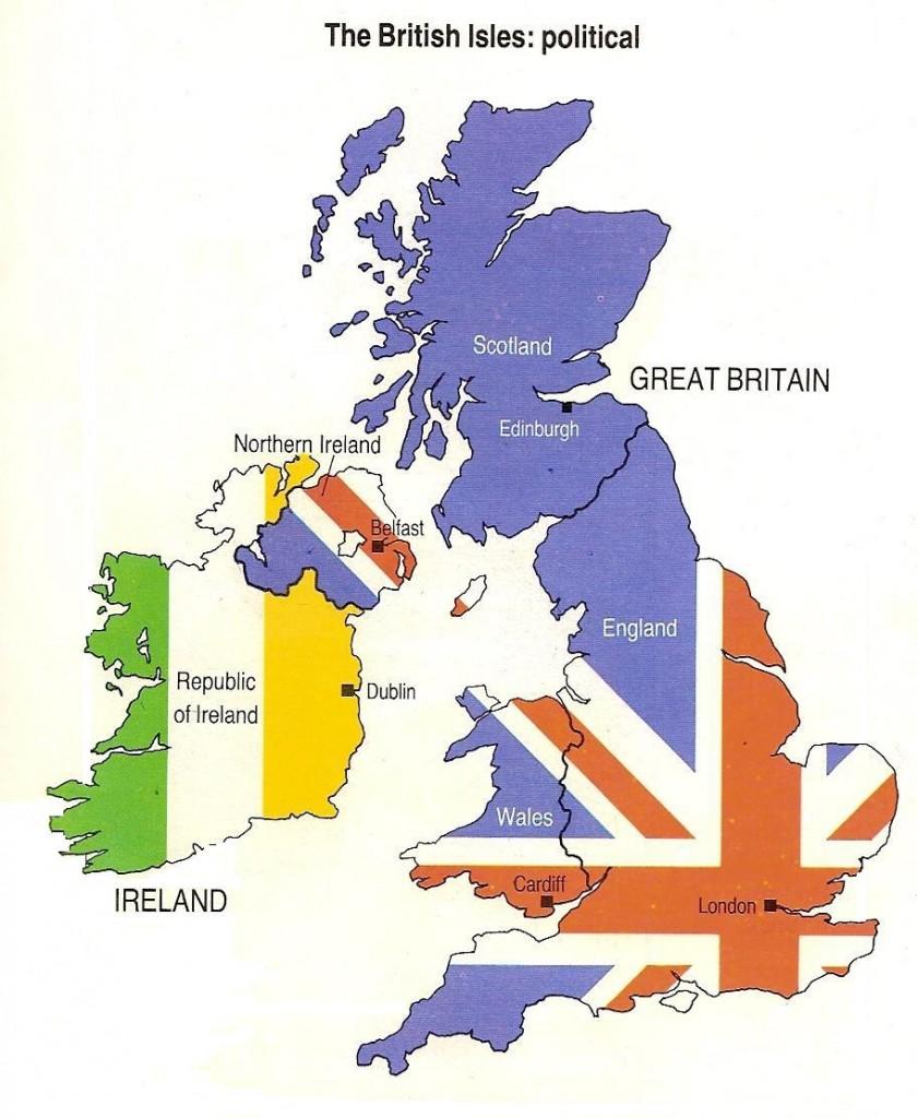 Cartina Regno Unito E Irlanda.L Irlanda Non E British Differenze Tra Irlanda E Regno Unito